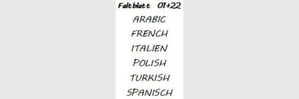 Faltblätter in sonst. Sprachen