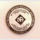 Laser-Etch Medallion, 19 Jahre